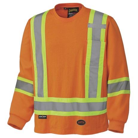 cotton long sleeve traffic shirt