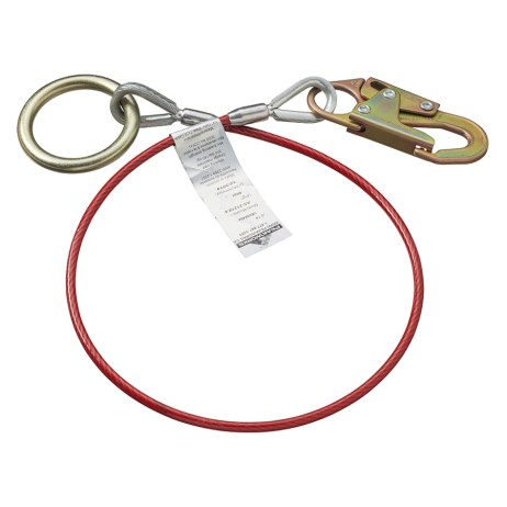 cable anchor sling with snap hook