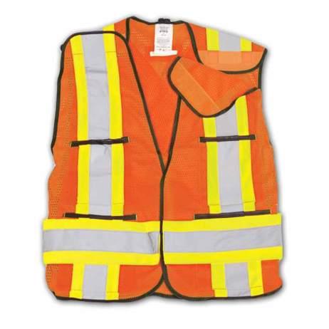 BK101 Orange Hi-vis mesh safety vest