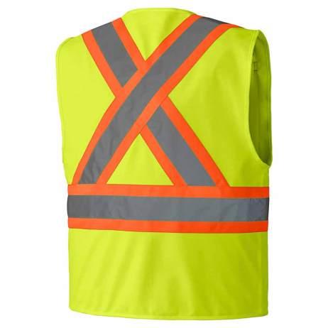 Hi-Viz Zipper Front Safety Vest