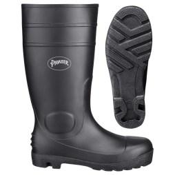 pvc plain toe boot
