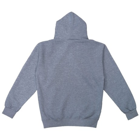 grey pullover hoody back
