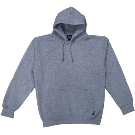 grey pullover hoodie front