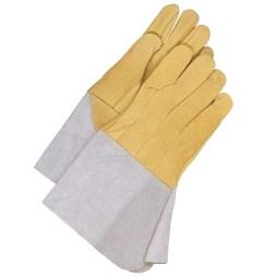 tig grain leather welding gloves