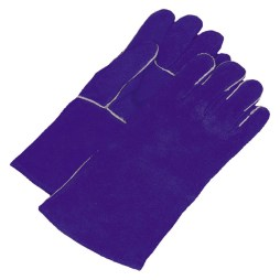 blue split leather welding glove