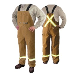 brown duck fr coveralls
