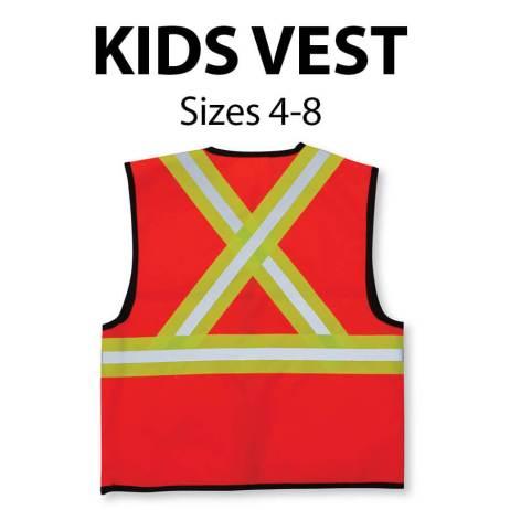 kids vest back