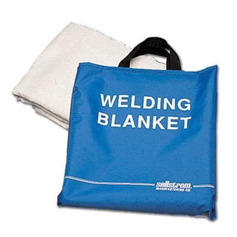 blue welding blanket