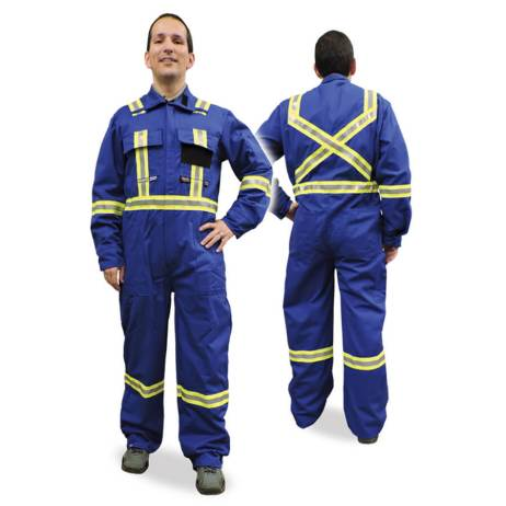 blue fire resistant coveralls