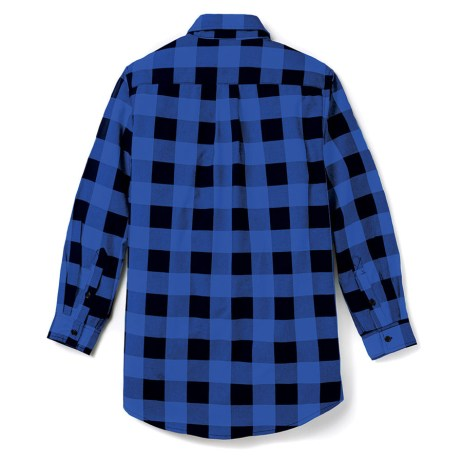 blue plaid fr shirt back