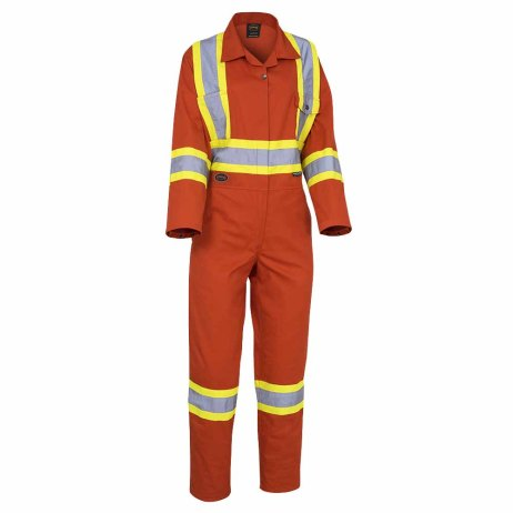 women's safety coverall orange