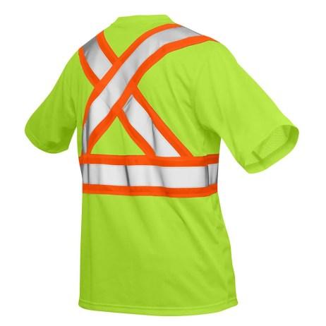 yellow hi-viz mesh t-shirt