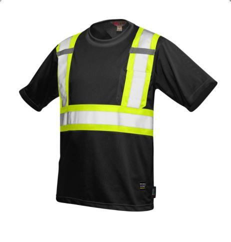 hi-viz mesh t-shirt black