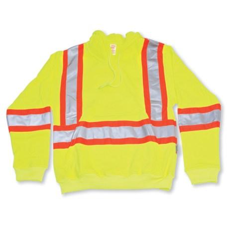 big k yellow hi vis pullover hoodie