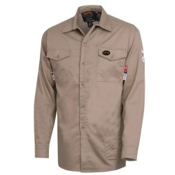 pioneer fr tech 7 oz tan long sleeved shirt