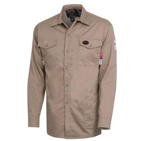 pioneer fr tech 7 oz tan long sleeved shirt