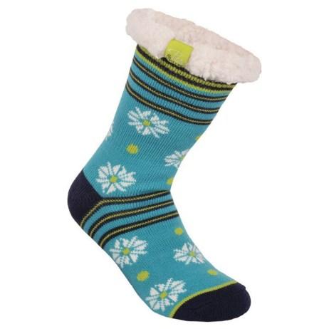 blue winter cosy socks