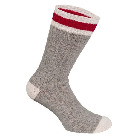 Grey and Red work sock