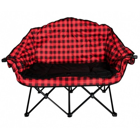 red plaid bear buddy chair