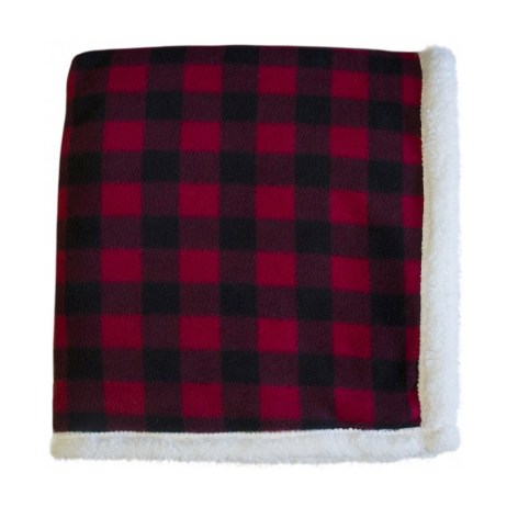 red black sherpa throw