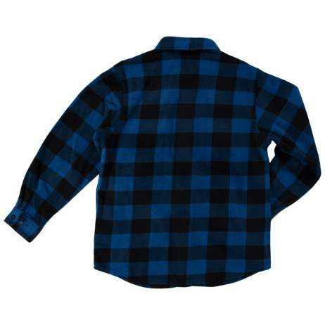 blue fleece buffalo shirt