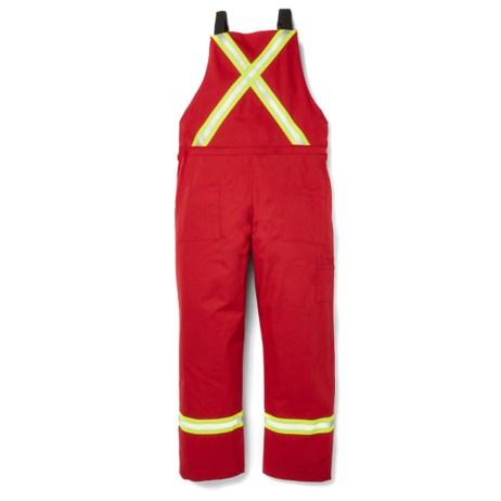 fr red bib overalls hi vis back
