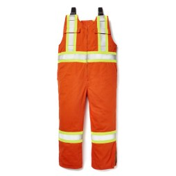 fr orange unlined bib overalls