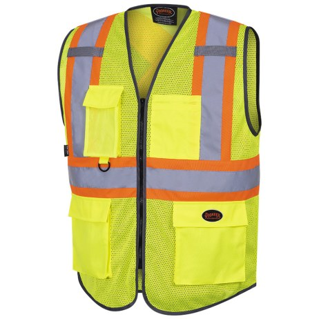 Yellow Zipper Safety Vest