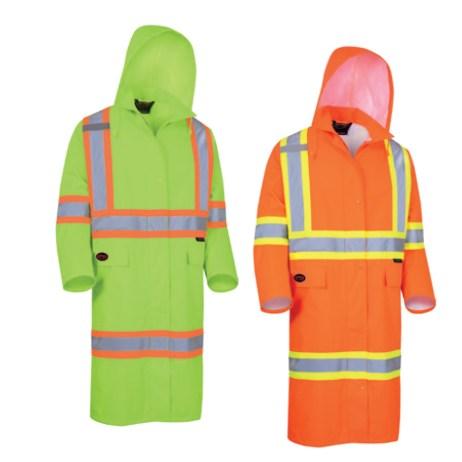 Long Safety Rain Coats