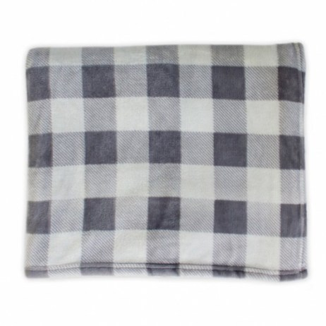 Grey Plaid Throw