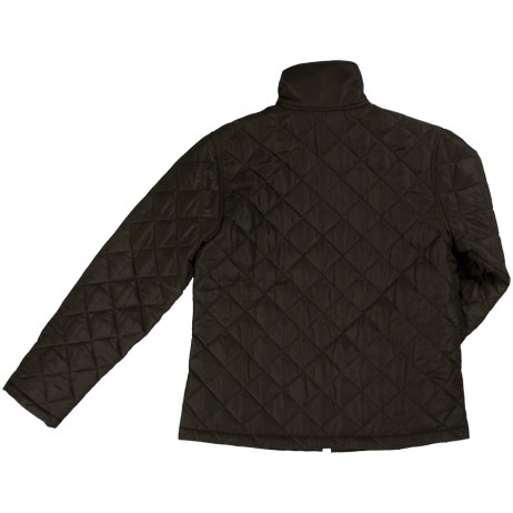 womens quilted freezer jacket back