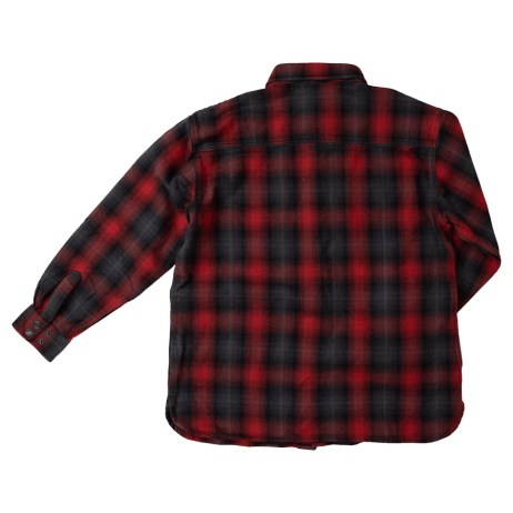flannel overshirt red back