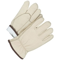 Winter Grain Cowhide Driver Gloves