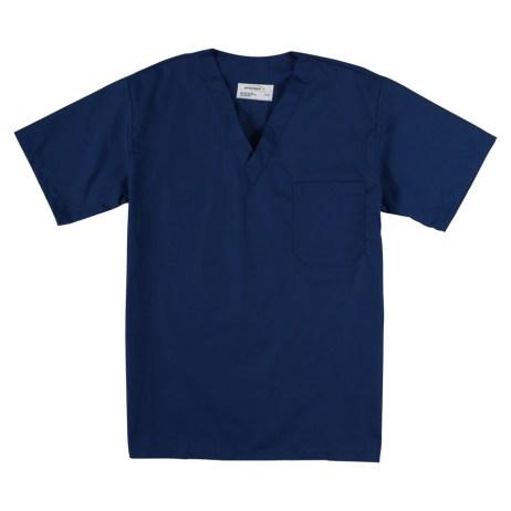 Dark Blue Scrub Top