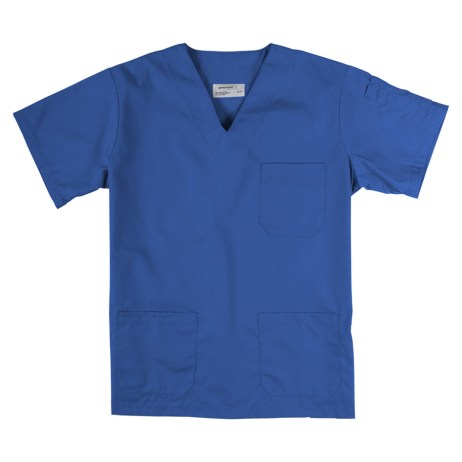 royal blue v-neck scrub top