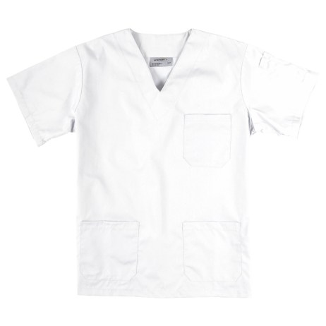 white scrub top
