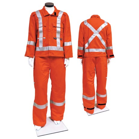 Orange Hi-Viz FR Suit