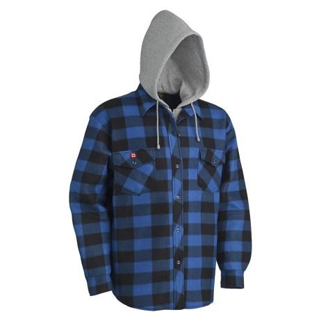 Blue Plaid Hoodie