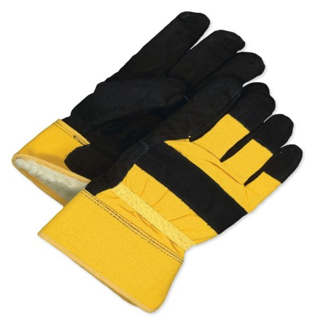 Yellow and Black Gloves