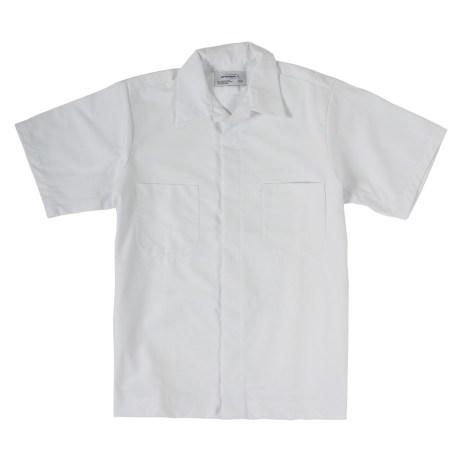 White Short Sleeve Work Shirt