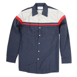 Two Tone Work Shirt Striped