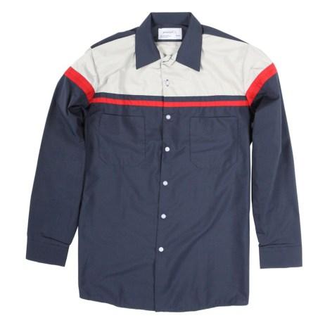 Two Tone Work Shirt Striped