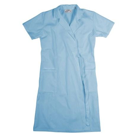 Blue Short Sleeve Wraparound Coat
