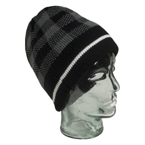 Black Checkered Beanie