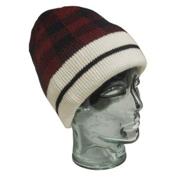 Red Checkered Beanie