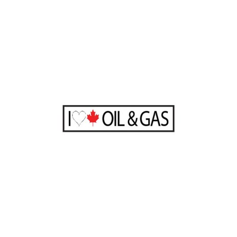 I Love Canadian Oil & Gas Sticker