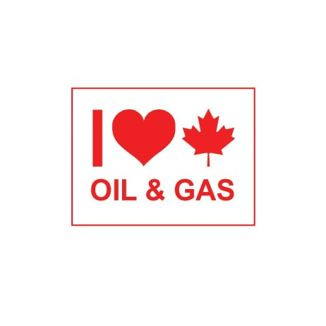 Large I Love Canadian Oil & Gas Sticker