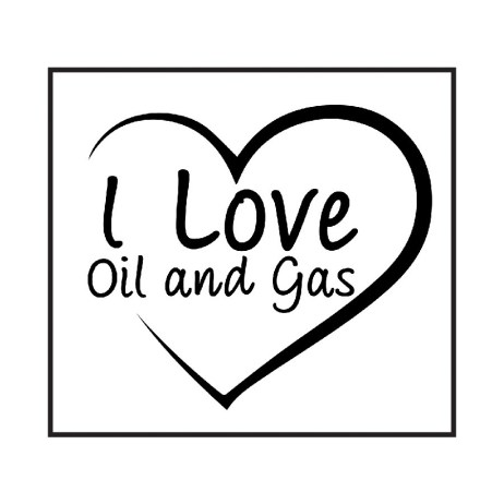 Love Oil and Gas Sticker