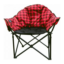 red plaid heated lazy bear chair
