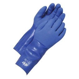 pvc blue gauntlet 14 glove